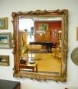 Spiegel mit Goldrahmen schön verziert antik