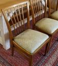 50er Jahre Stühle mit Polster und Muster