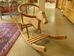 Antikes Holzschaukelpferd